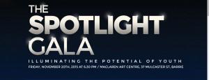 Spot light gala slide