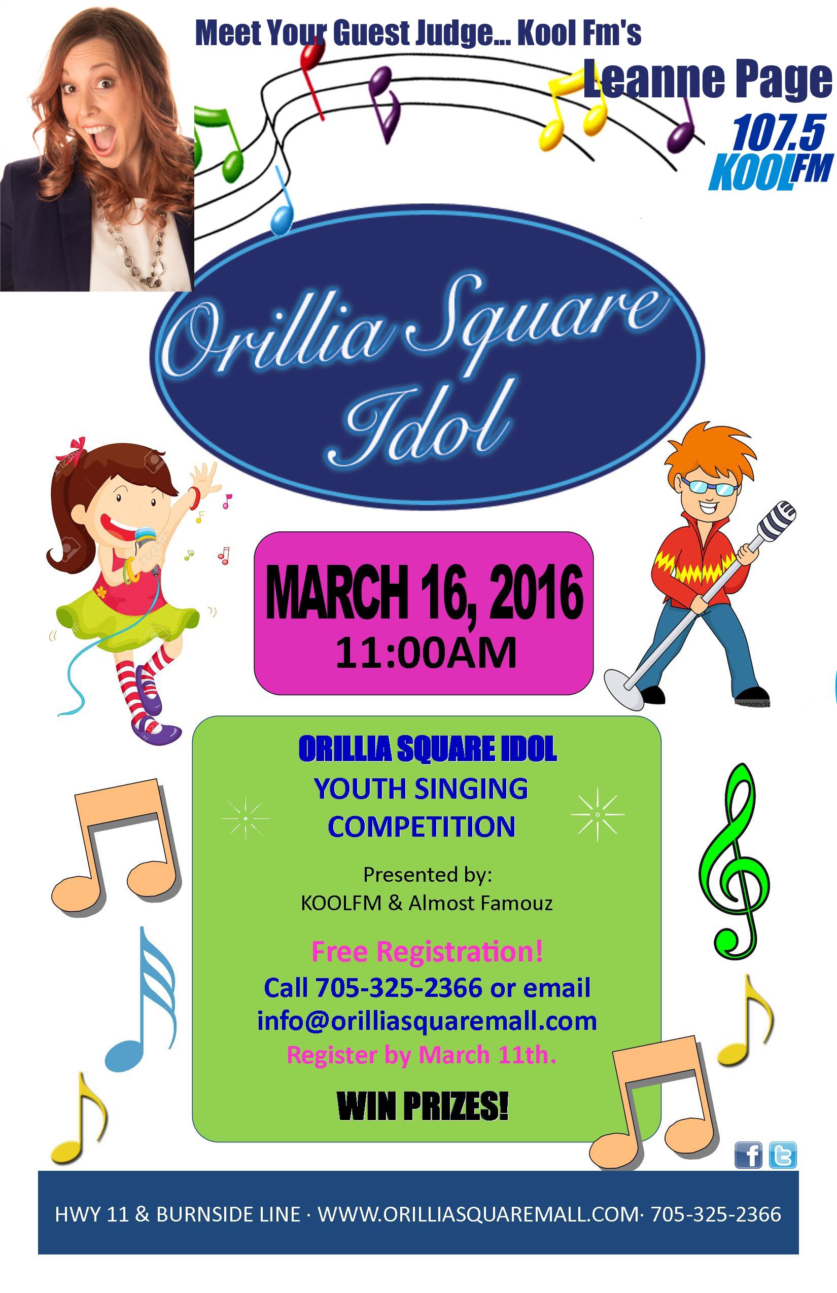 Orillia Square Idol 2016 poster