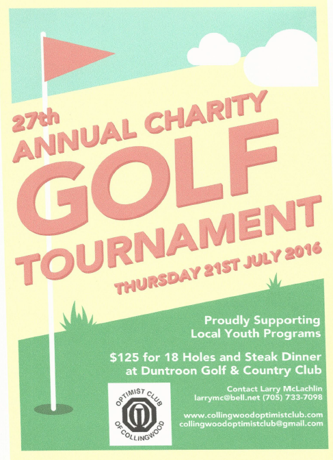 27th annual charity golf tournament