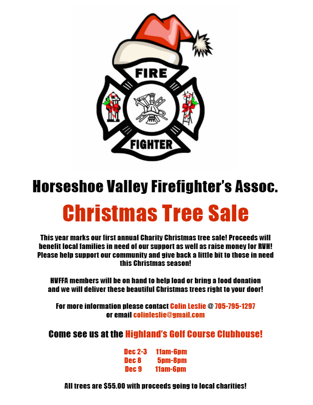 Horseshoe Christmas Tree For Sale.Horseshoe Valley Firefighter S Assoc Christmas Tree Sale