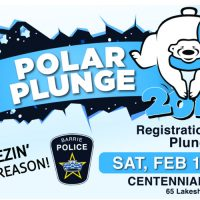 2nd Annual Barrie Police Polar Plunge in Support of the Special Olympics