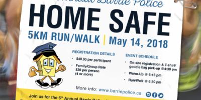 Barrie Police Home Safe Run | 107 5 Kool FM