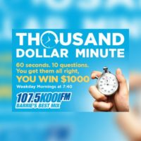 $1000 Minute Wednesday, December 11th