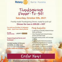 Rotary Club of Barrie-Huronia Thanksgiving Dinner To Go