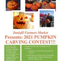 Innisfil Farmers Market Pumpkin Carving Contest
